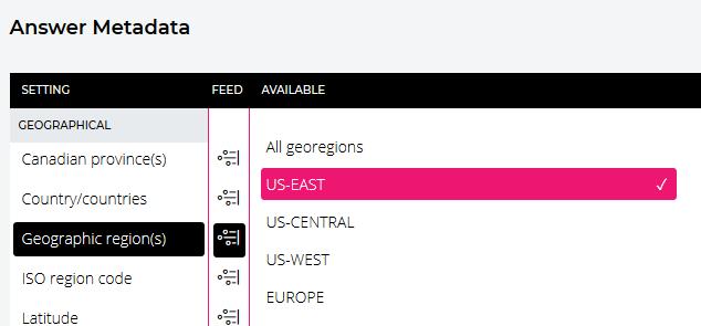 [Set the geographic region]