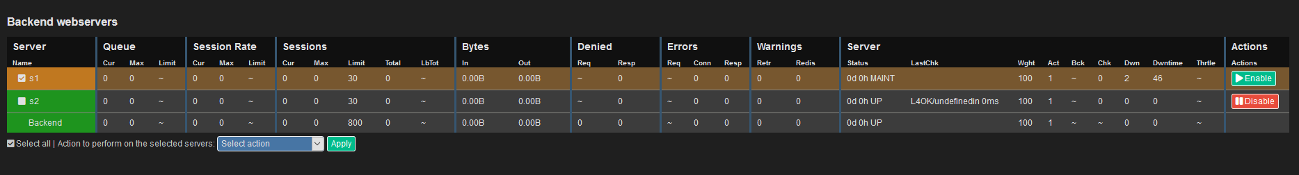 [Disable a server in the Real Time Dashboard]