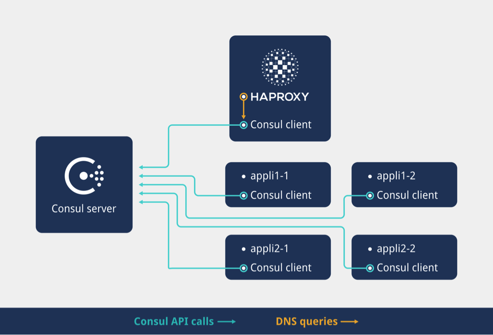 Haproxy and consul with dns for service discovery for Consul load balancing
