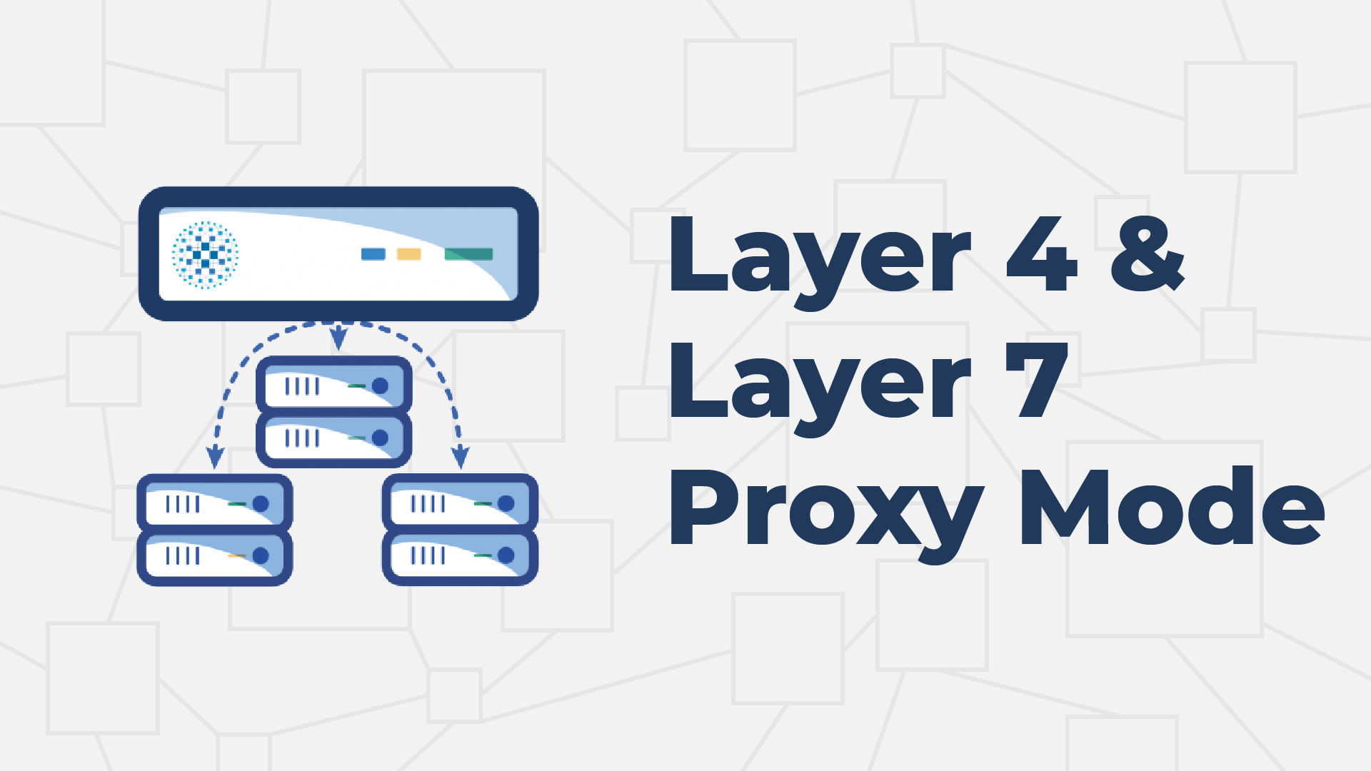 Layer 4 and Layer 7 Proxy Mode