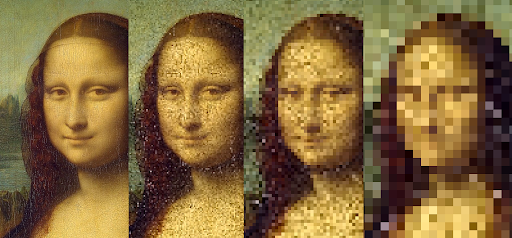 Mona Lisa downsampled